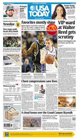 3/16/2007 Issue of USA TODAY MAIN