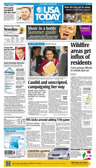5/11/2007 Issue of USA TODAY MAIN
