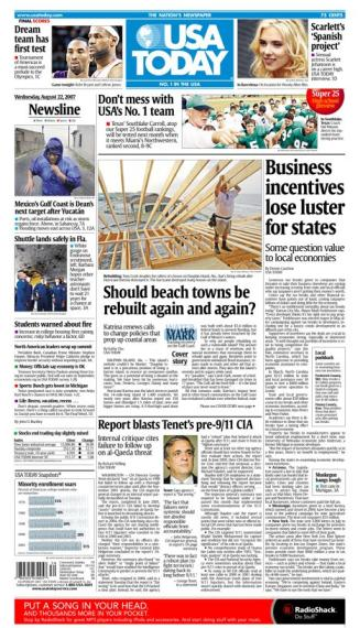 8/22/2007 Issue of USA TODAY MAIN