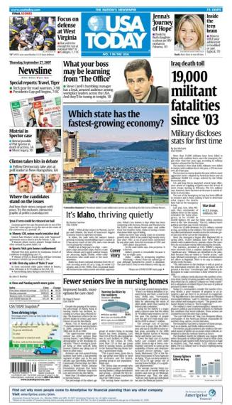 9/27/2007 Issue of USA TODAY MAIN