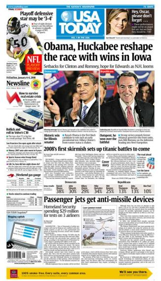 01/04/2008 Issue of USA TODAY MAIN
