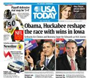 01/04/2008 Issue of USA TODAY THUMBNAIL