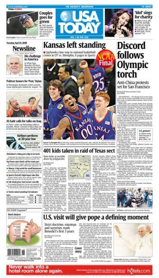 04/08/2008 Issue of USA Today MAIN
