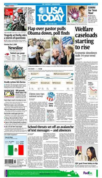 05/05/2008 Issue of USA Today MAIN