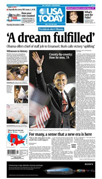 11/06/2008 Issue of USA TODAY MAIN