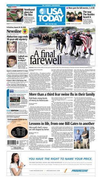 8/28/2009 Issue of USA TODAY MAIN