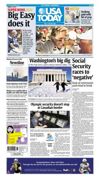 02/08/2010 Issue of USA TODAY MAIN