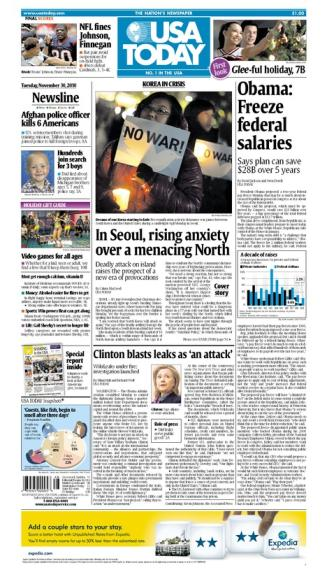 11/30/2010 Issue of USA TODAY MAIN