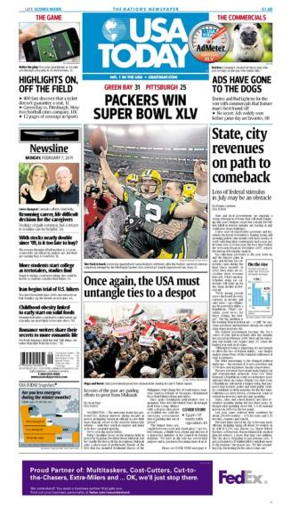 02/07/2011 Issue of USA TODAY MAIN