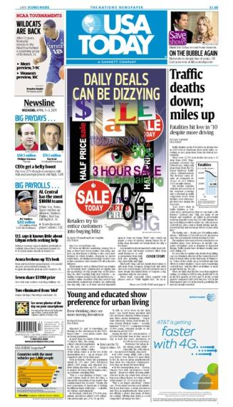 04/01/2011 Issue of USA TODAY MAIN