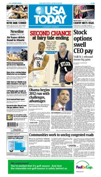 04/04/2011 Issue of USA TODAY MAIN