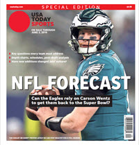 USA TODAY Sports  Special Edition - NFL Forecast  2019 - Eagles Cover THUMBNAIL