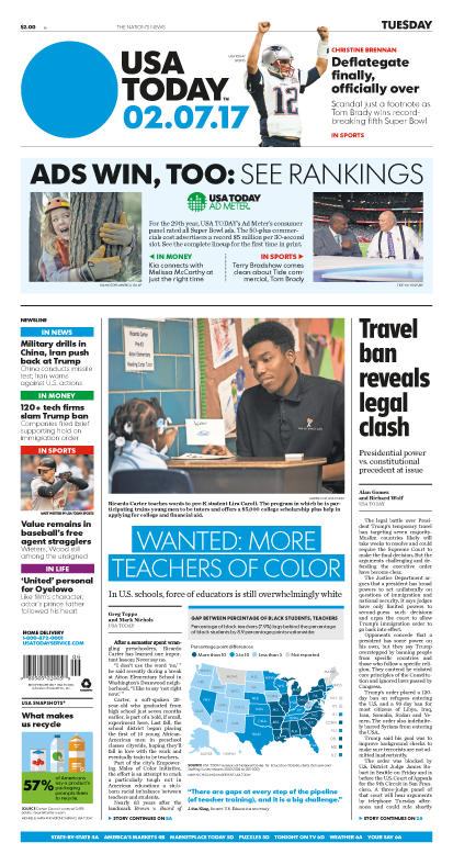 02/07/2017 Issue of USA TODAY – USA TODAY Online Store