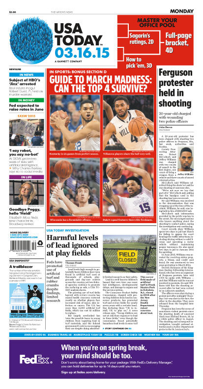 03/16/2015 Issue of USA TODAY MAIN