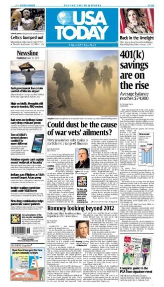 05/12/2011 Issue of USA TODAY MAIN