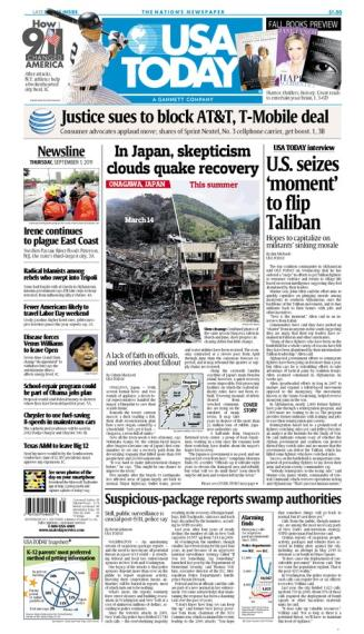 09/01/2011 Issue of USA TODAY MAIN