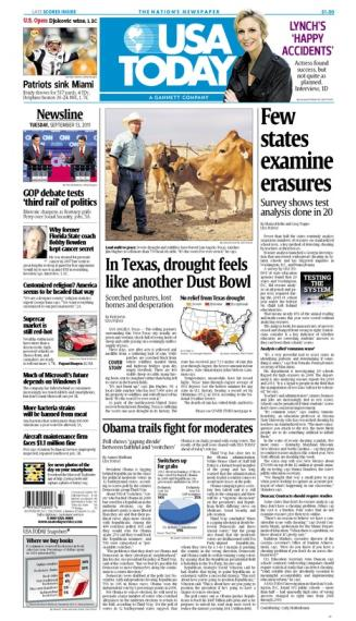 09/13/2011 Issue of USA TODAY MAIN