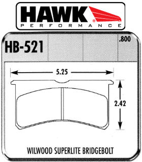7420 - Superlite4 Bridge Bolt pad axle set - Hawk DTC-70 (20mm thick)