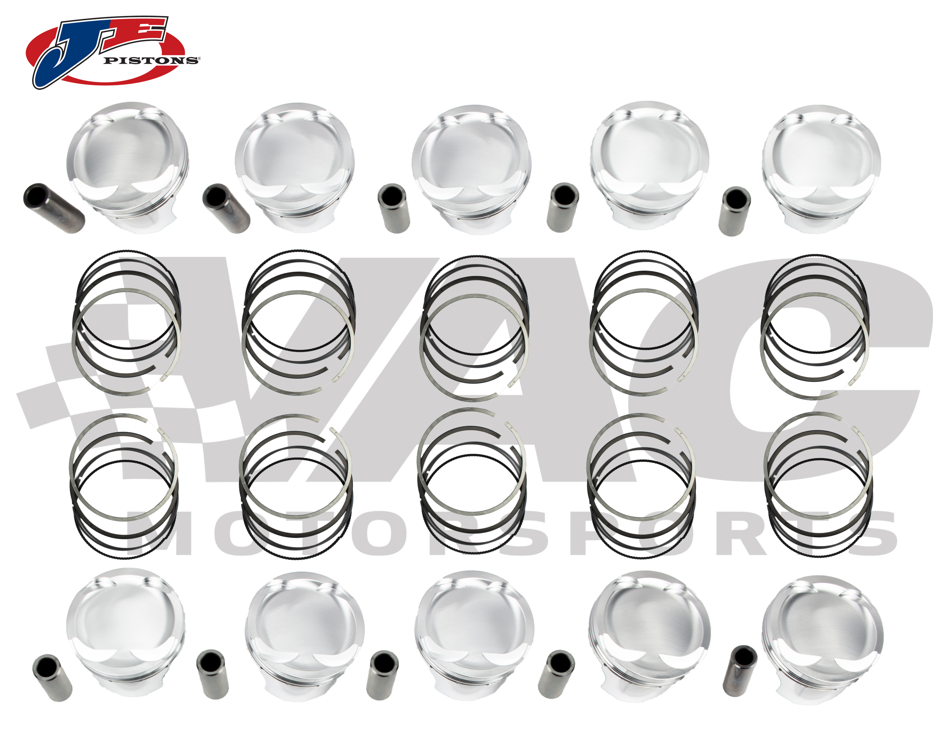 JE Pistons Forged Piston Set (Sleeved BMW S85) MAIN