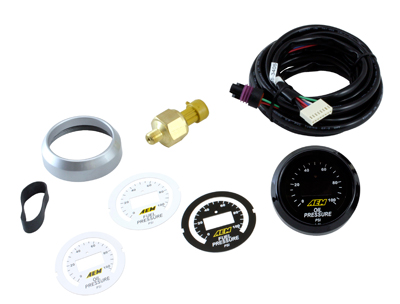 AEM Pressure Gauge Oil/Fuel Digital 0-100psi