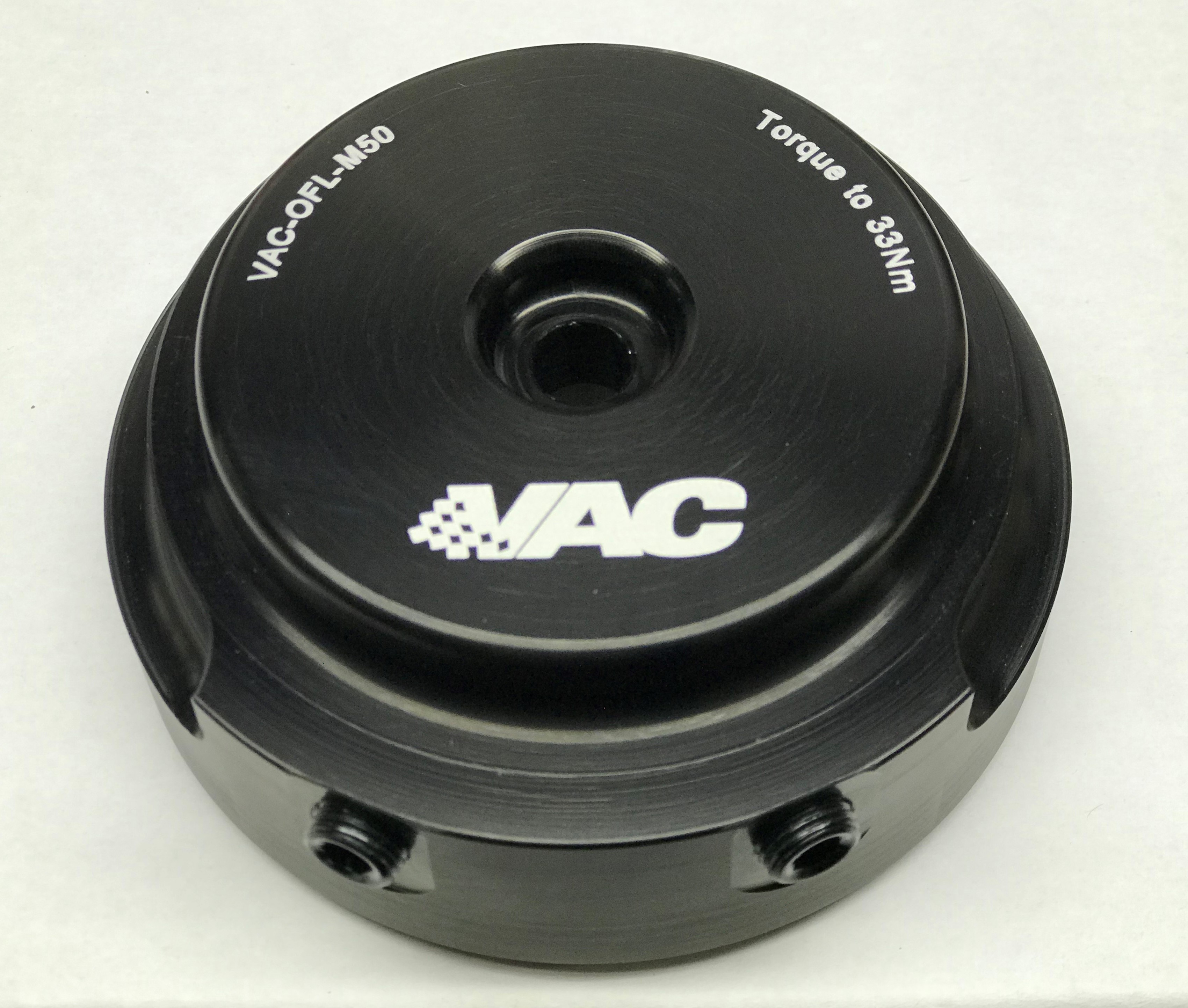 VAC Billet Oil Filter Lid w/Sensor Ports for BMW M50/M52/S50/S52/S50B30/S50B32/S54_SWATCH