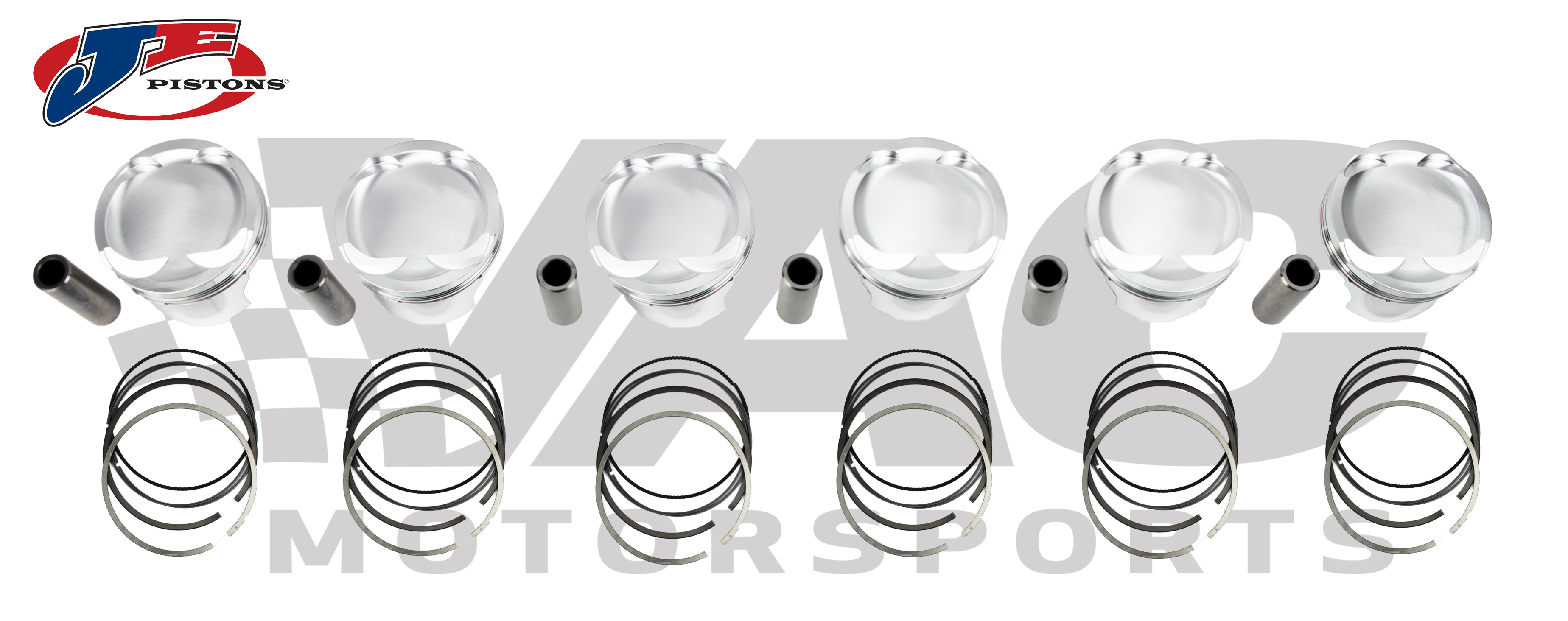 JE Forged Piston Set (M20 Engine, BMW E30 325, E34 525) THUMBNAIL