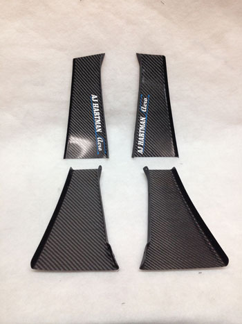 AJ Hartman Aero Carbon Fiber Racing Canards (BMW E92)
