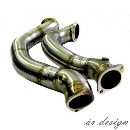 "ar Design - E89 Z4 N54 3"" Hi-Flo Catless Downpipes"