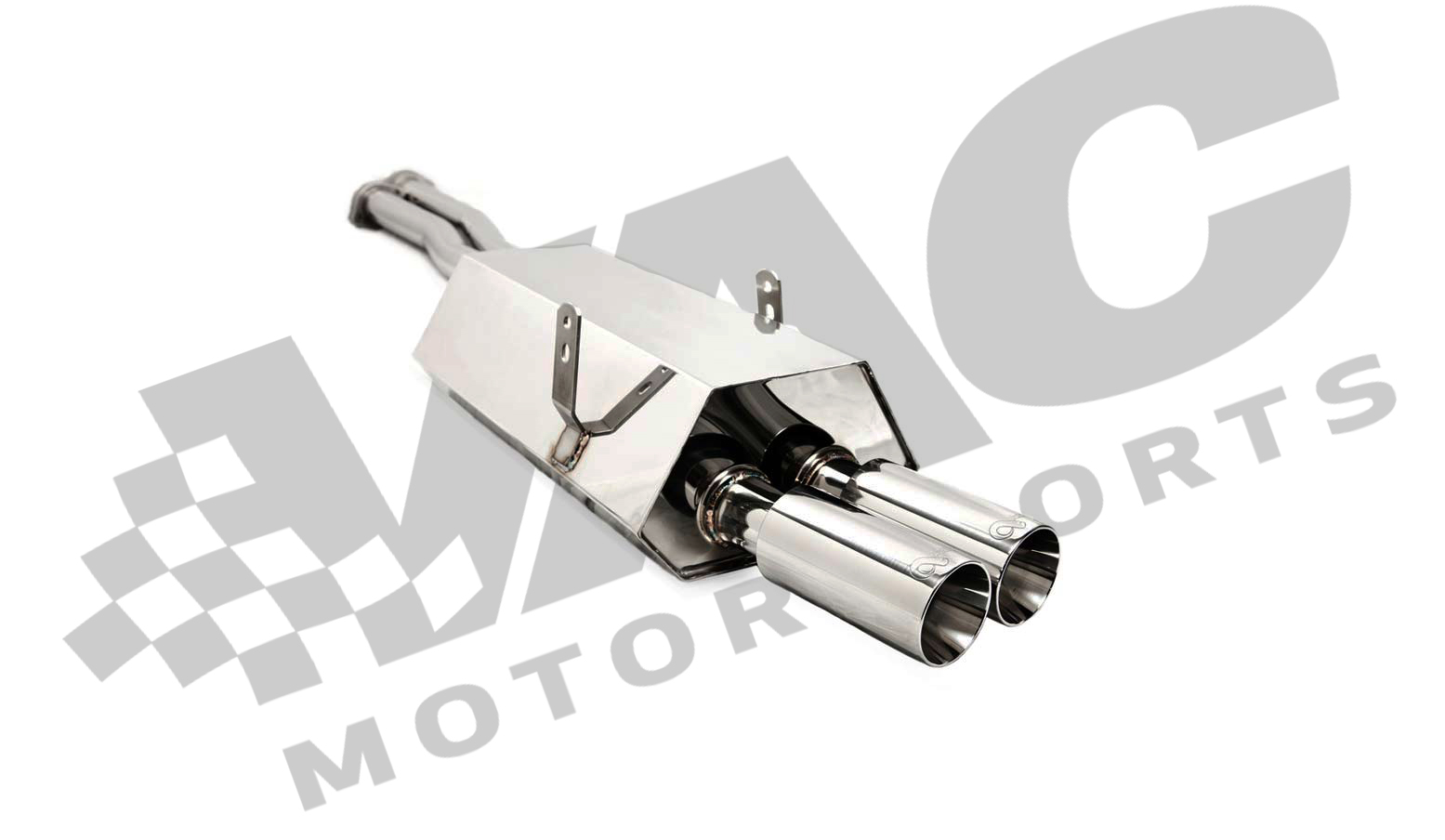 Active Autowerke Rear Section Exhaust, Stainless (BMW E36) THUMBNAIL