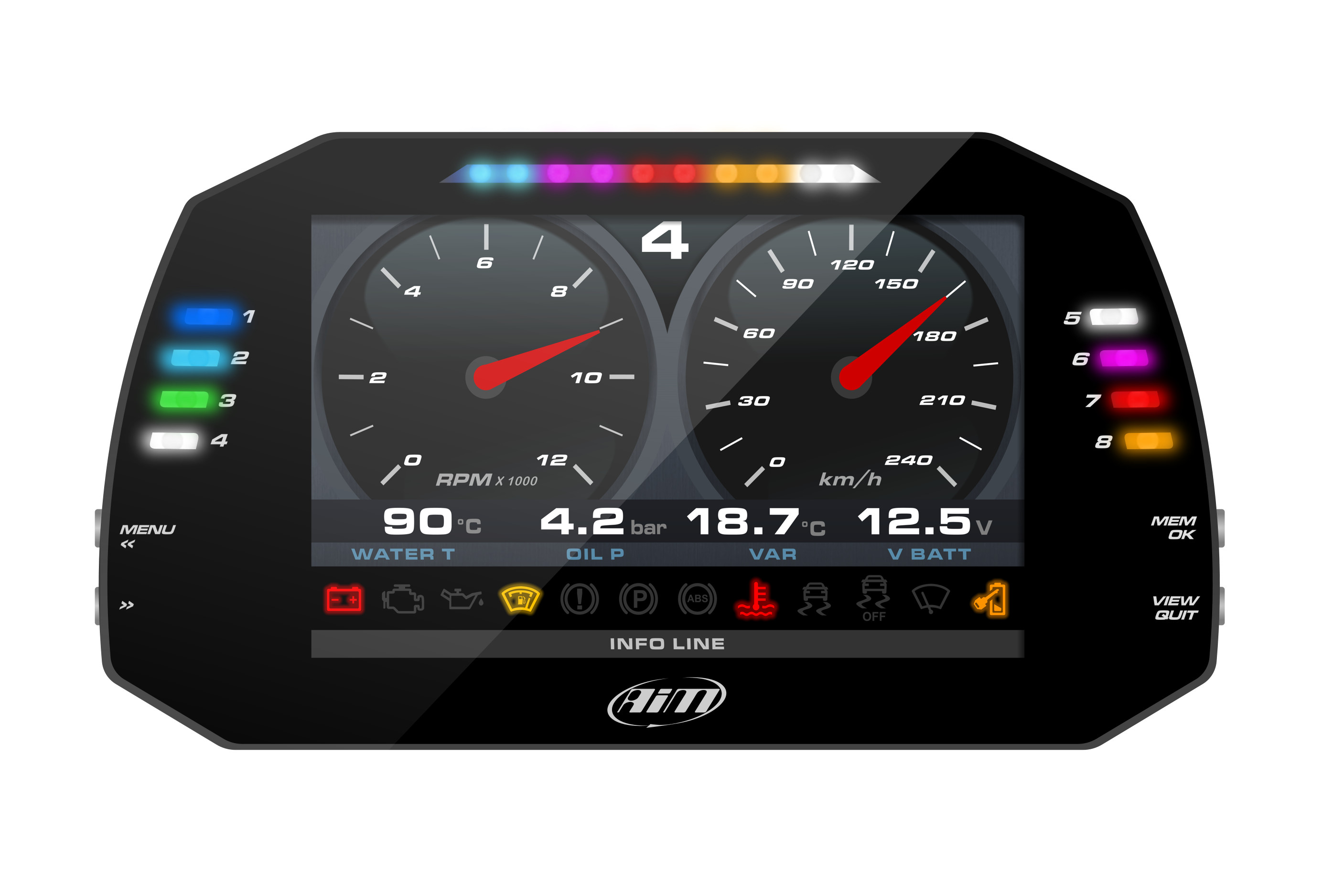 AiM Sports MXG Race Dash and Data logger THUMBNAIL