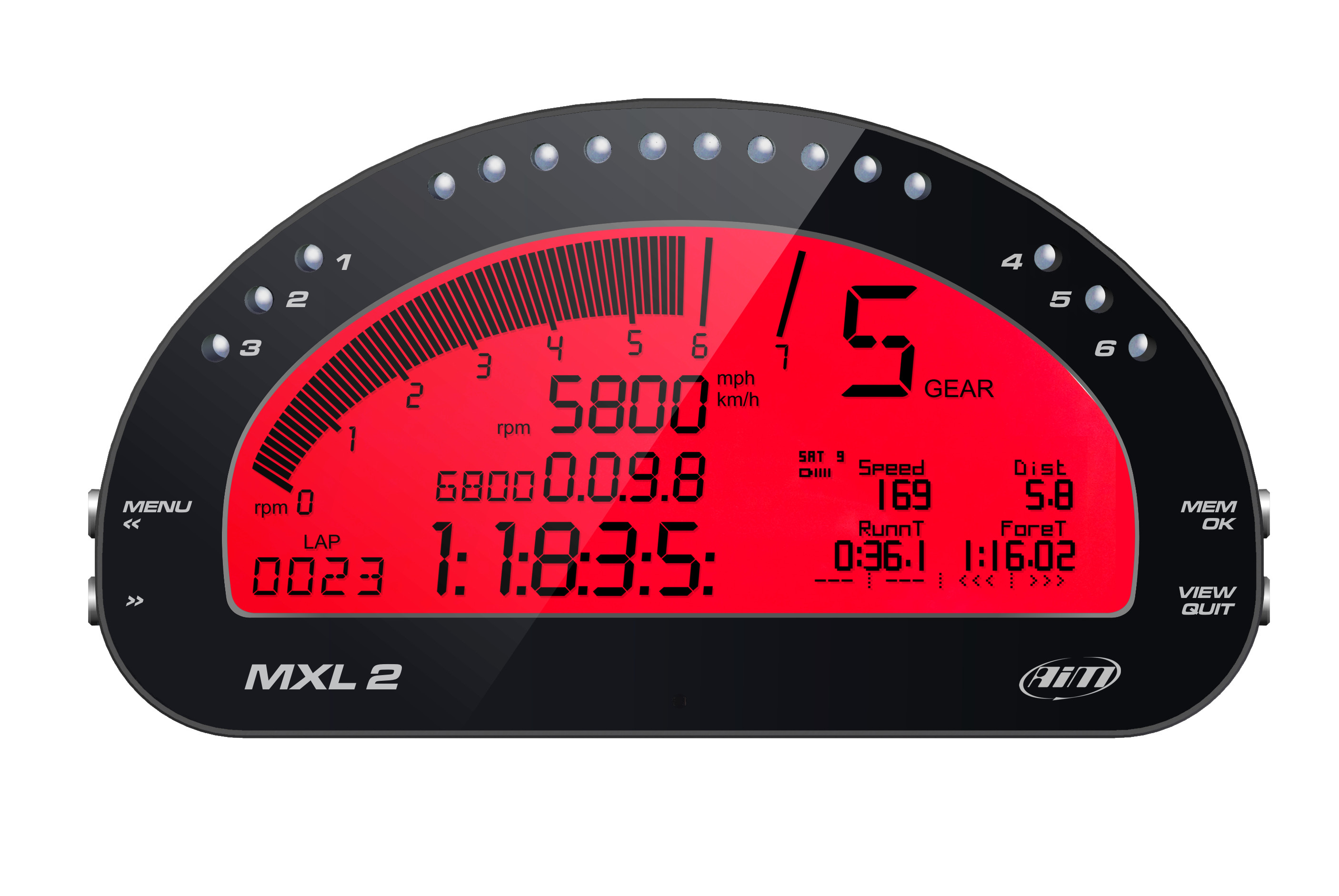 AiM Sports MXL2 Race Dash and Data Logger THUMBNAIL