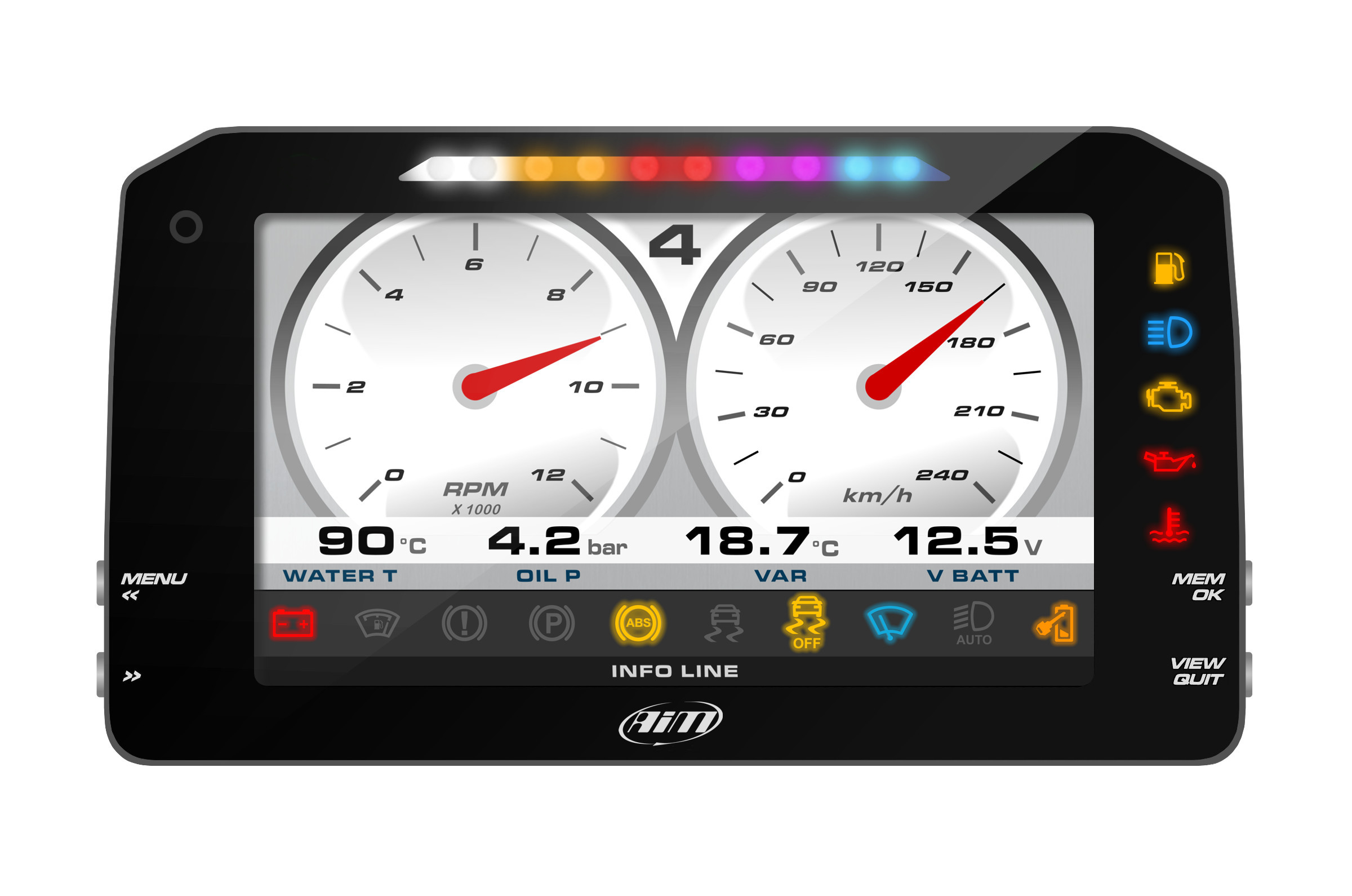 AiM Sports MXP Race Dash and Data logger THUMBNAIL