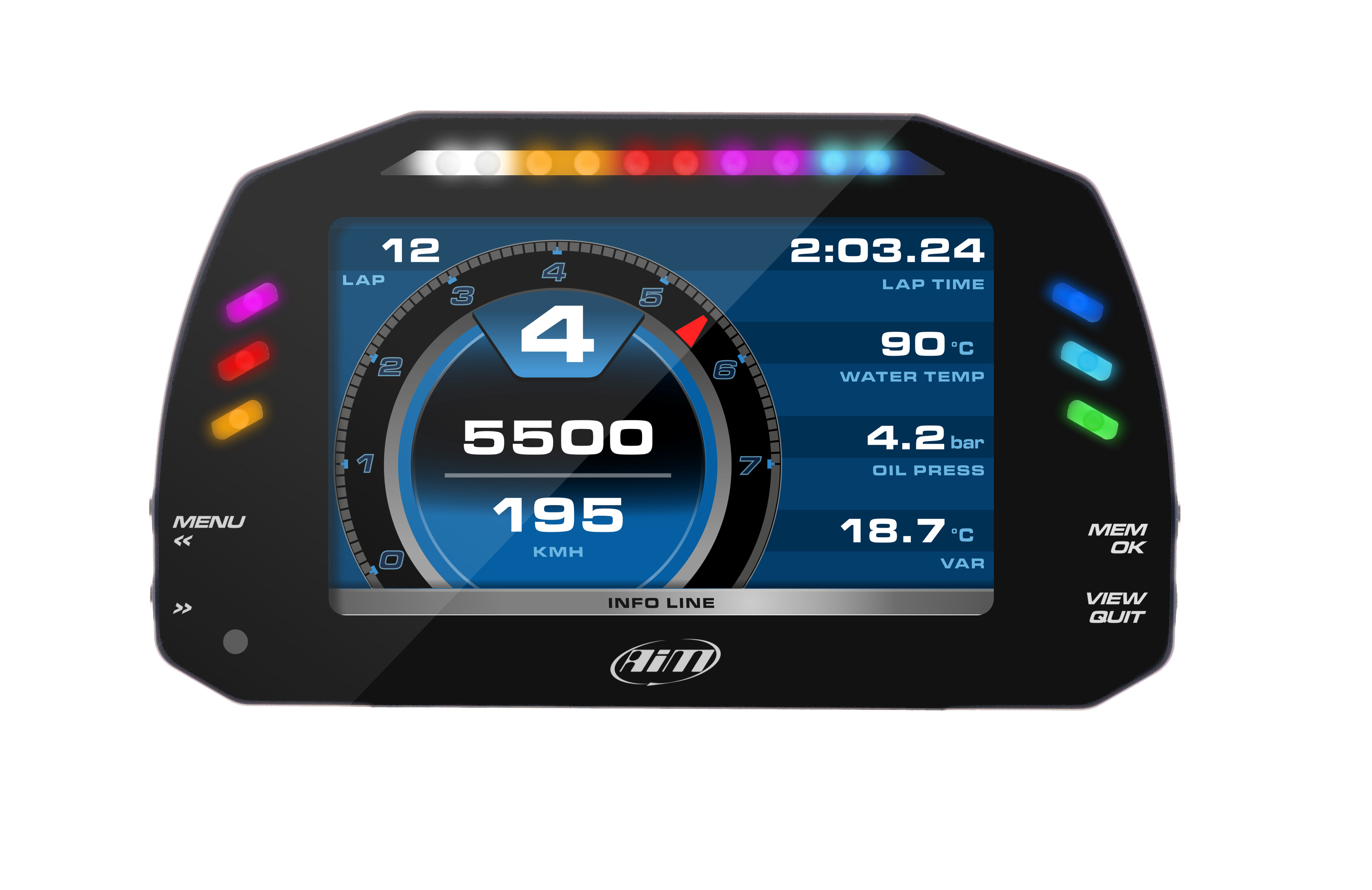 AiM Sports MXS Race Dash and Data logger THUMBNAIL