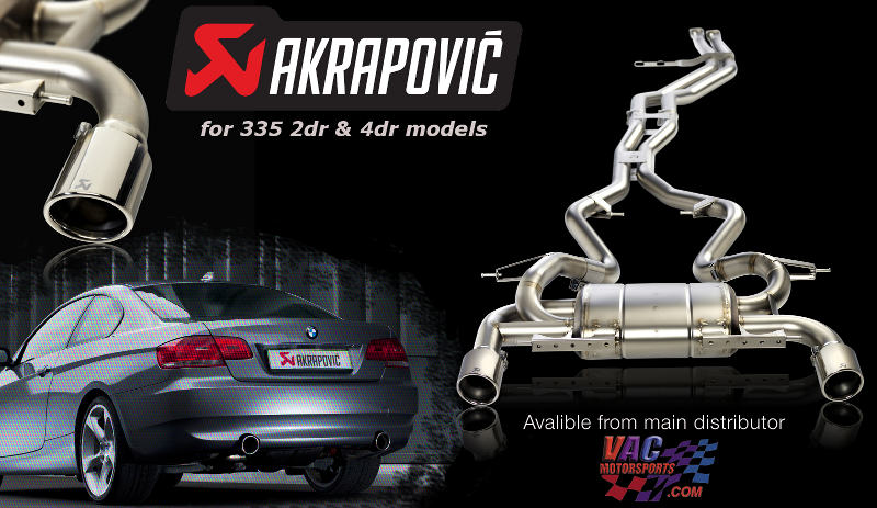 Akrapovic Evolution Full Exhaust System Bmw E90 E91 335i 4dr