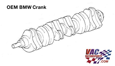 BMW S50B32 US Spec Crankshaft (BMW S52 3.2L)