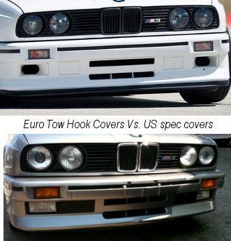 BMW - E30 M3 Euro Market Tow Hook Cover Kit