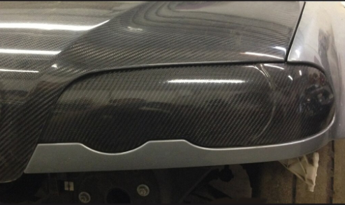 RHR Performance Carbon Fiber Headlight Blanks (BMW E46) SWATCH