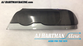 AJ Hartman Aero Carbon Fiber Headlight Blanks (BMW E46)