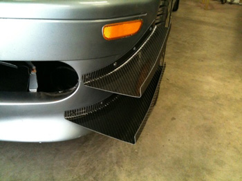 AJ Hartman Aero Carbon Fiber Racing Canards (BMW E46)