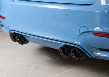 BMW F80 M3, SwitchPath™ Resonated exhaust with 90mm Diamond Black Tips, by AWE Tuning MAIN