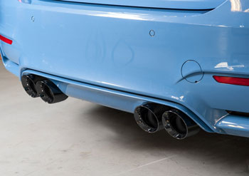 BMW F80 M3, SwitchPath™ Non-Resonated exhaust with 102mm Diamond Black Tips, by AWE Tuning MAIN