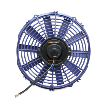 "Mishimoto Slim Electric 12"" Fan, Blue MAIN"