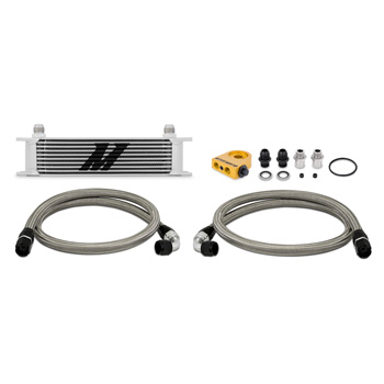 Mishimoto Universal Thermostatic 10 Row Oil Cooler Kit MAIN