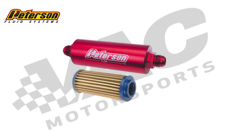 Peterson Inline Fuel Filter, -8 A/N male MAIN