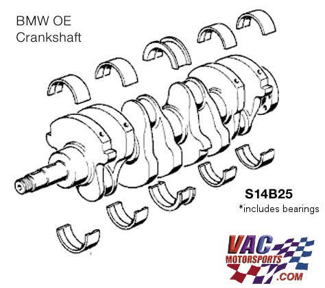BMW S14 2.5L Stroker Crankshaft