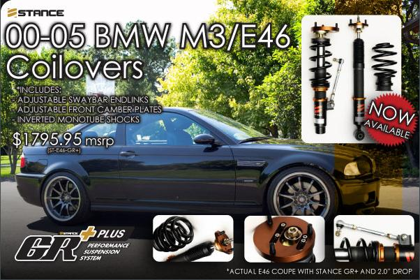 STANCE - E46 M3 Super Sport+ Coilover Suspension Kit
