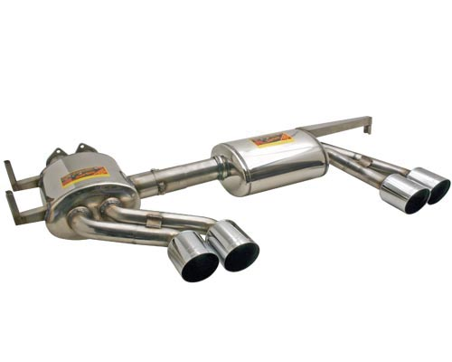 Supersprint BMW E46 M3, Race Muffler w/4 Round Tips MAIN
