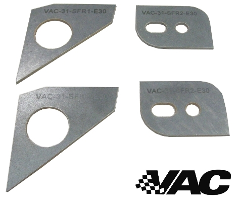 VAC - E30 (all) Front Subframe/ Crossmember Reinforcement Set