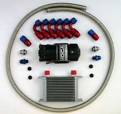 VAC - Differential or Transmission Cooler Kit , with 10 ft Braided Hose