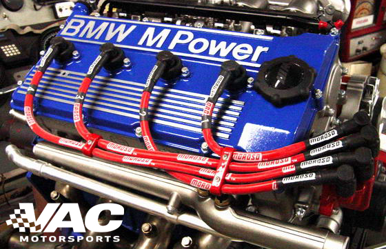 VAC Motorsports Custom Refinished Valve Covers, BMW S38 MAIN